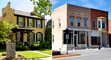 Historic properties in Wisconsin: Frederick Wilhelm and Frances Amelia Winkenwerder House in Watertown and the Frank DeBoth Building, a commercial main street building in DePere.