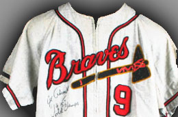 Braves jersey from the collections of the Wisconsin Historical Museum.