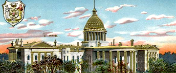 Wisconsin State Capitol postcard, 1883. WHI 23248.