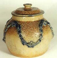 Art pottery jar and lid.